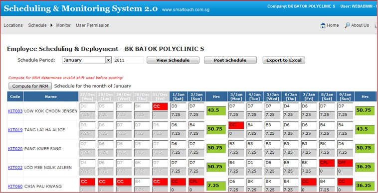 Scheduling and Deployment System